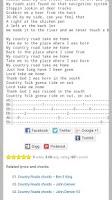 Screenshot of Guitar Chords, Tabs and Lyrics