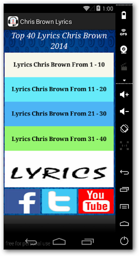 Chris Brown Album Lyrics