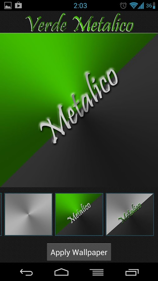Verde Metalico Launcher Theme - screenshot
