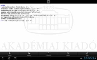 Screenshot of Hungarian-German Dictionary