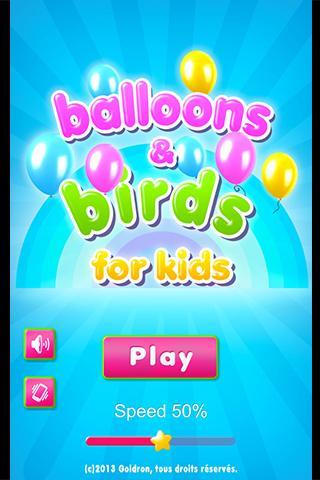 Balloons Birds for Kids