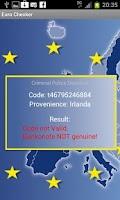 Screenshot of Euro Checker