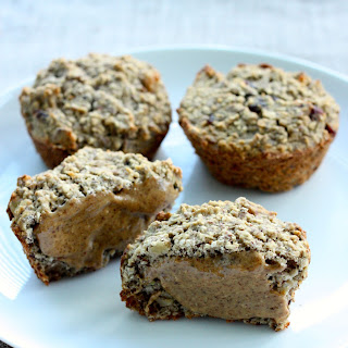Vegan Banana Oat Muffins (gluten free, higher protein option)