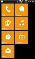 Screenshot of MXHome Windroid7 Theme