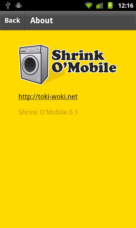 Shrink O'Mobile- screenshot