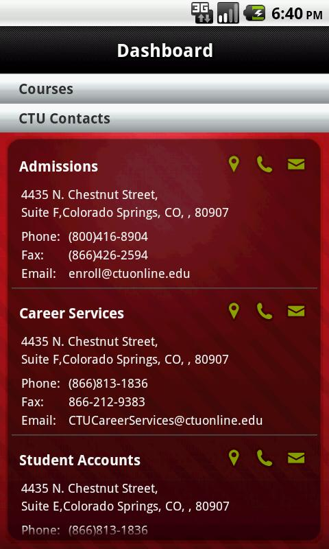 CTU Mobile – Phone - screenshot