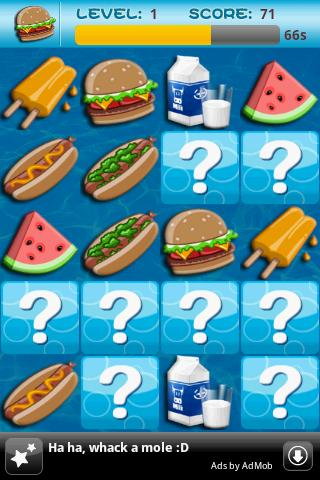 Memory Game For Kids-Fast Food- screenshot