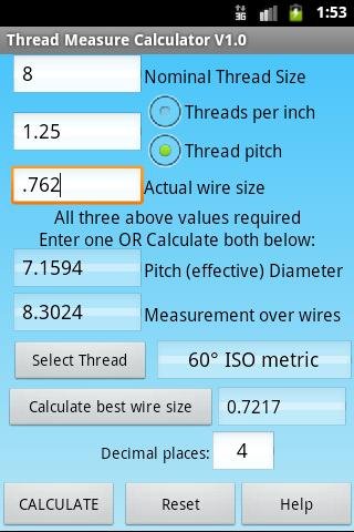 Measure threads with 3 wires android apps on google play measure threads with 3 wires screenshot keyboard keysfo Image collections