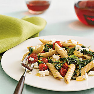 Penne With Spinach and Feta.