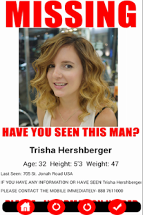missing person sign template