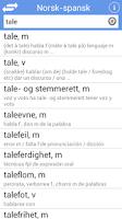 Screenshot of Ordnett - Spansk blå ordbok
