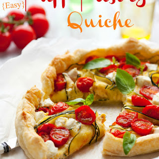 Easy Puff Pastry Quiche.