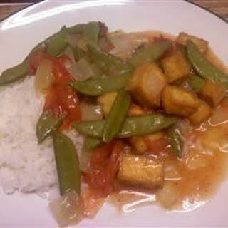 Braised Green Beans with Fried Tofu.