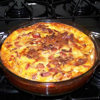 Bacon and Swiss Quiche.