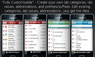 Screenshot of Lab Values + Medical Reference