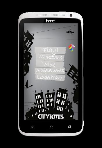 市风筝润:乐趣和疯狂的风筝在天空中飞翔