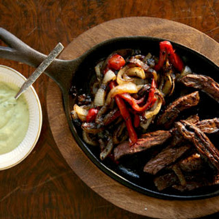 Steak Fajitas with Green Sauce