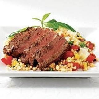 Filet with Farro Salad