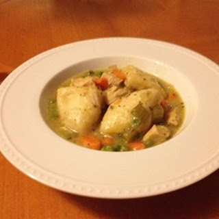 Healthier Slow Cooker Chicken and Dumplings.