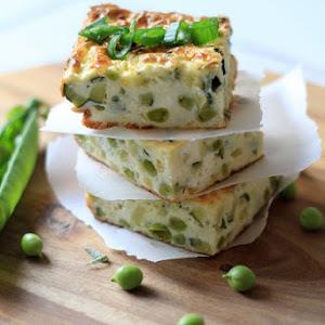 Zucchini Terrine with Peas and Philadelphia Cream Cheese