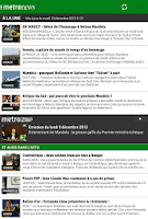 Screenshot of Metronews pour smartphone
