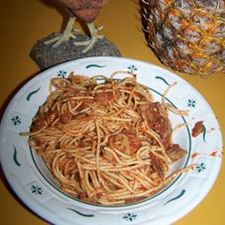 Bacon and Mushroom Spaghetti