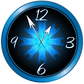 Blue Ice Clock