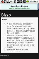 Screenshot of Rap Dictionary