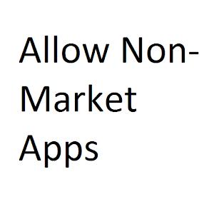Allow Non Market Apps