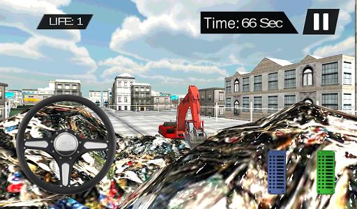 Garbage Excavator Cleaner 3D 2