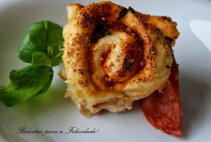 Pizza Rolls with Chorizo and Basil