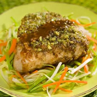 Wasabi Encrusted Tuna Steaks.