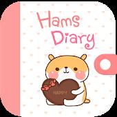 Cute Hams character diary