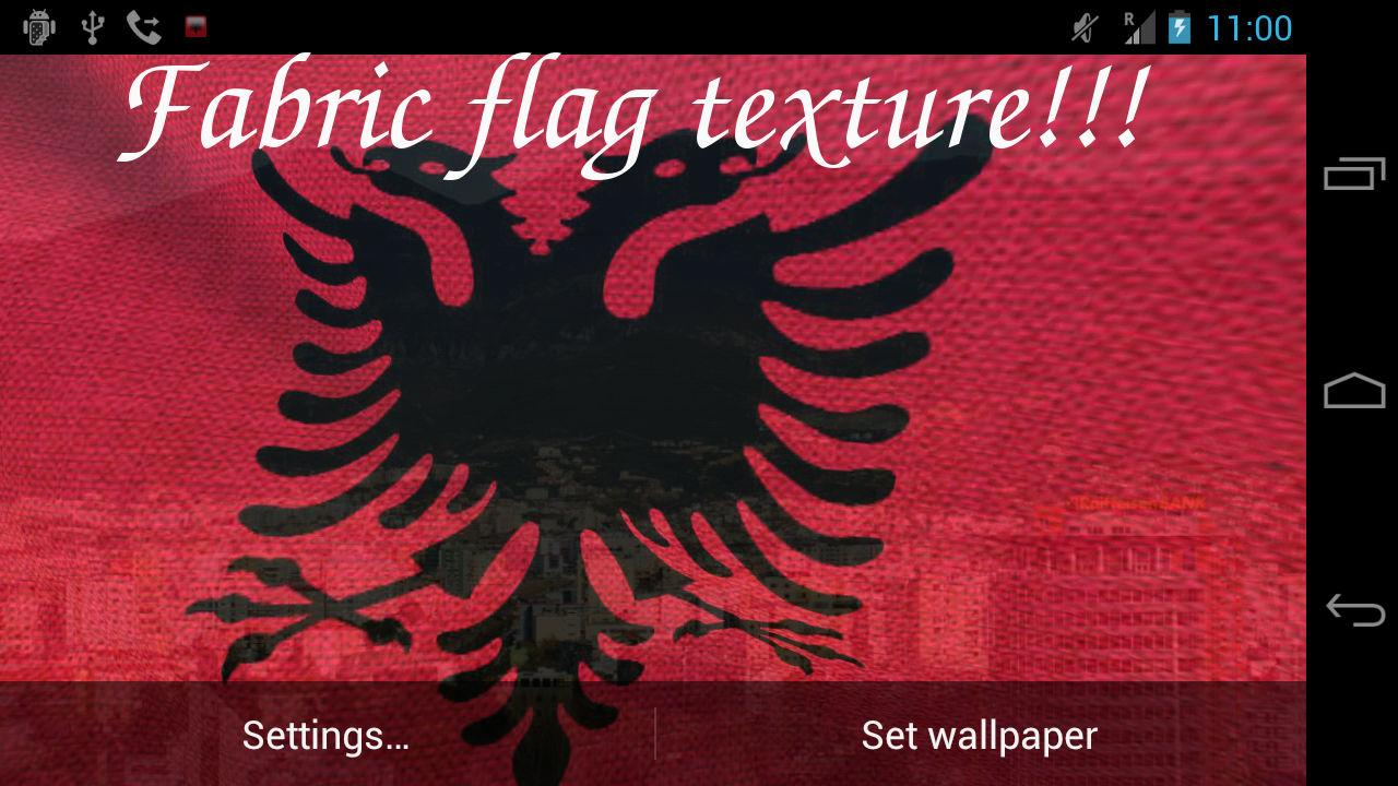 3D Albania Flag Live Wallpaper- screenshot