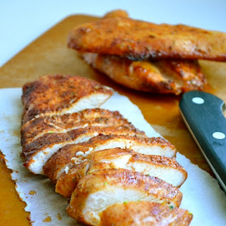 BROWN SUGAR SPICED BAKED CHICKEN.