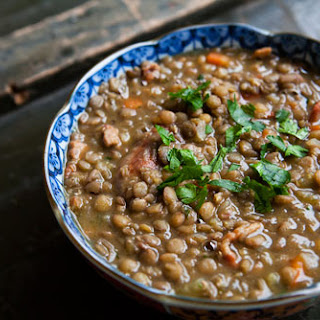 Lentil Stew with Sausage.