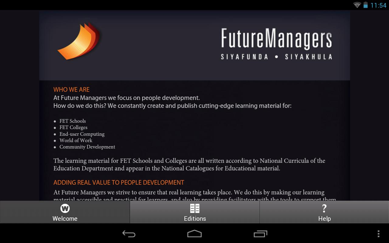Future Managers- screenshot