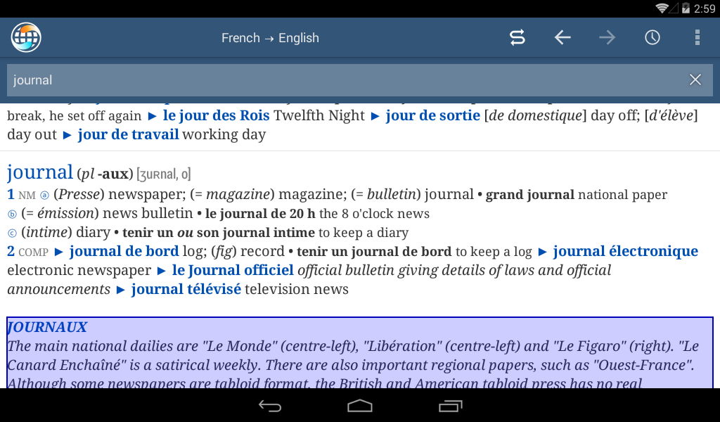 Ultralingua Dictionaries - Android Apps on Google Play