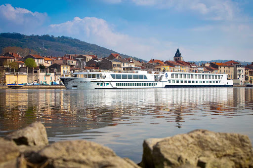 Uniworld-River-Royale-exterior - Guests can take in the historic villages of France from the comfort of the top deck on S.S. Bon Voyage (formerly River Royale).