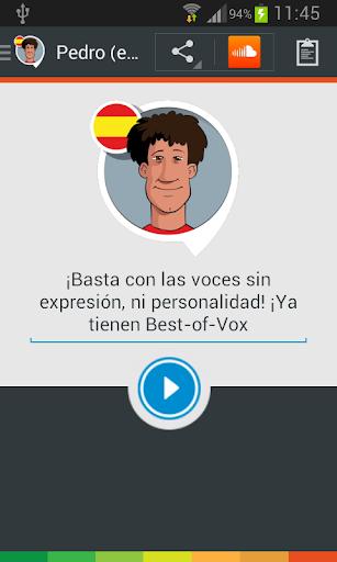 Voz Pedro español
