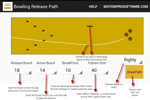 Bowling Release Path MotionPro