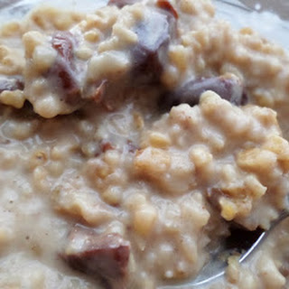 Overnight Slow Cooker Eggnog Cherry Steel Cut Oatmeal-src