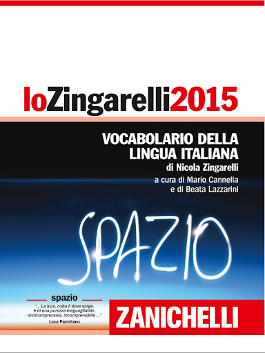 lo Zingarelli 2015 Vocabolario