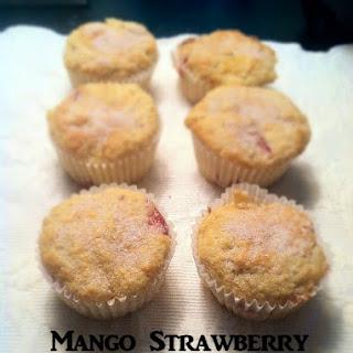 Mango Strawberry Muffins