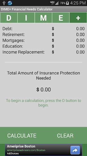 Financial Needs Calculator