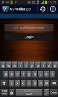 Screenshot of NS Wallet Password Manager App