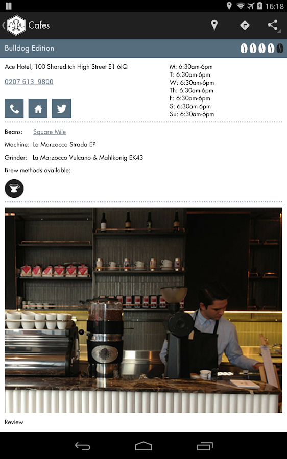 London's Best Coffee - screenshot
