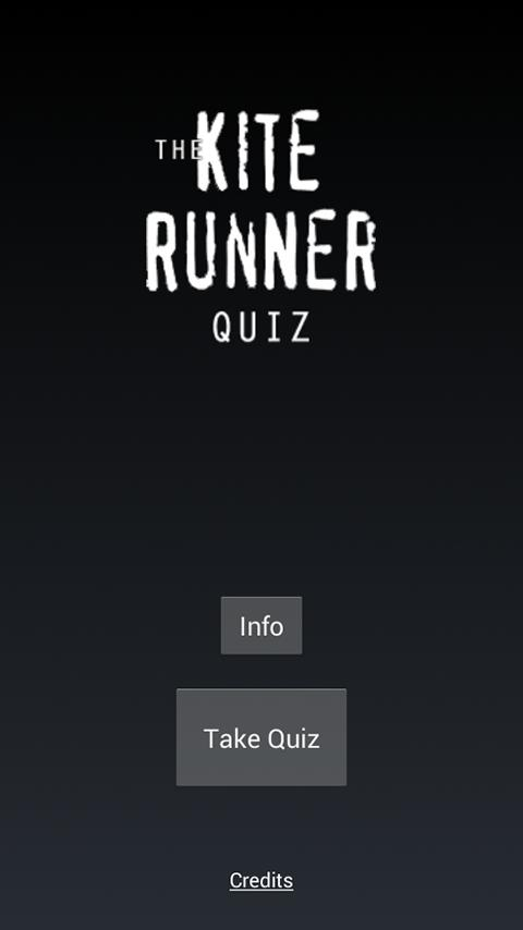 The Kite Runner Quiz - screenshot