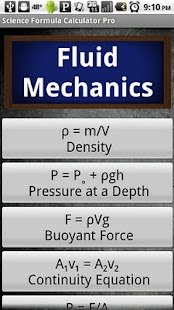 Science Formula Calculator Pro - screenshot thumbnail