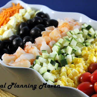Shrimp Cobb Salad with Honey Dijon Dressing.